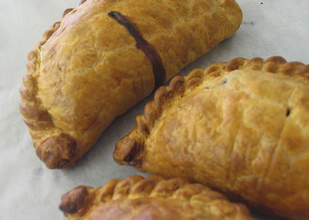 Freshly cooked hand made pasties - you can almost smell them!